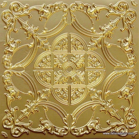 218 Brass Faux Tin Ceiling Tile