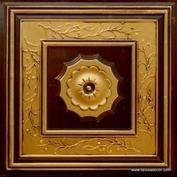 219 Antique Gold Faux Tin Ceiling Tile