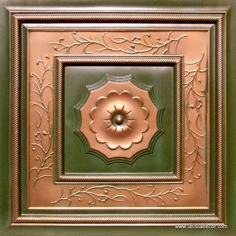 219 Patina Copper Faux Tin Ceiling Tile