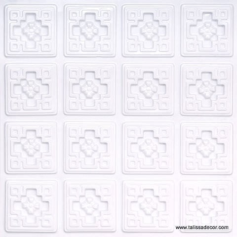 103 White Pearl Faux Tin Ceiling Tile