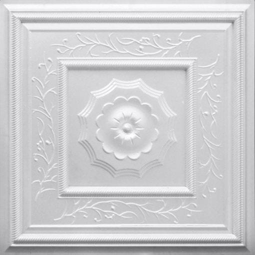 219 White Pearl Faux Tin Ceiling Tile