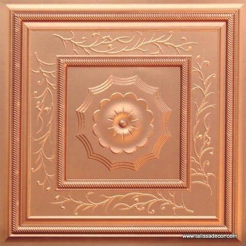 219 Copper Faux Tin Ceiling Tile