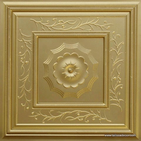 219 Brass Faux Tin Ceiling Tile