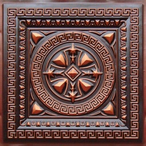 220 Antique Copper Faux Tin Ceiling Tile