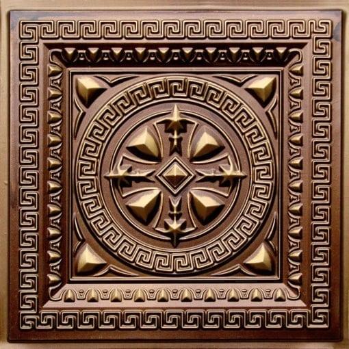 220 Antique Gold Faux Tin Ceiling Tile