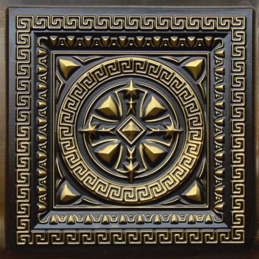 220 Antique Brass Faux Tin Ceiling Tile