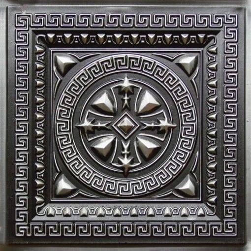 220 Antique Silver Faux Tin Ceiling Tile