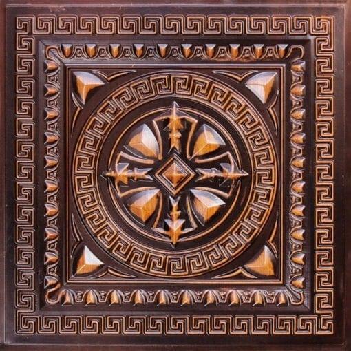 220 Antique Teakwood Faux Tin Ceiling Tile