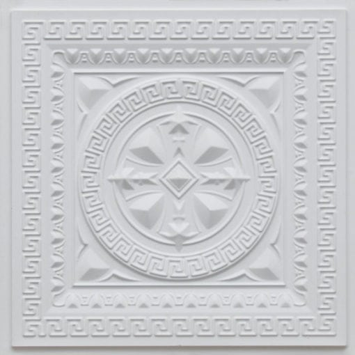 220 White Matte Faux Tin Ceiling Tile