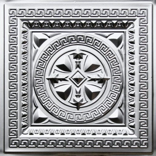 220 Silver Faux Tin Ceiling Tile