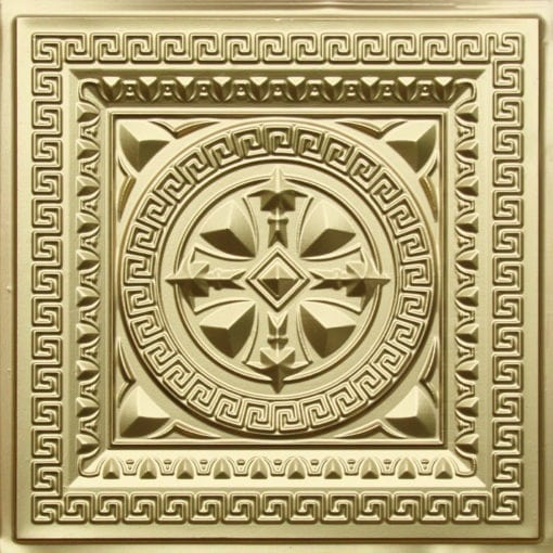 220 Brass Faux Tin Ceiling Tile