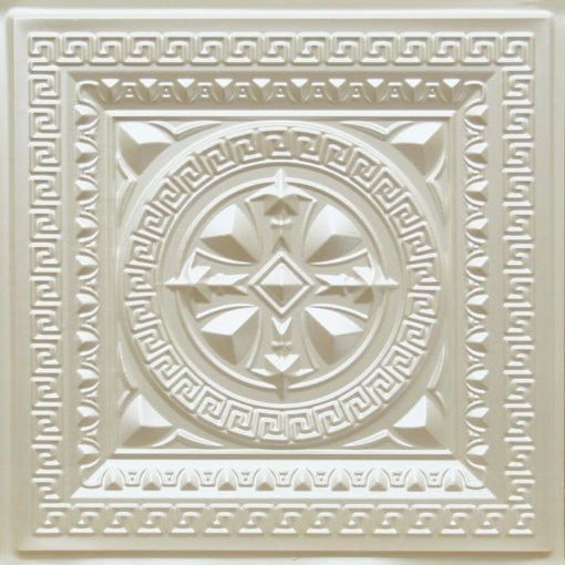 220 Cream Pearl Faux Tin Ceiling Tile