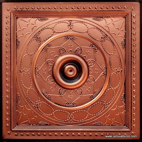 221 Antique Copper Faux Tin Ceiling Tile