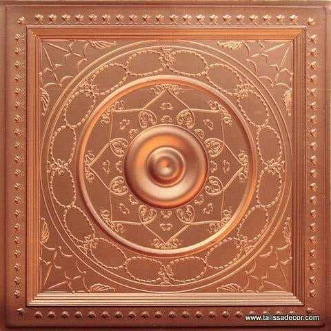 221 Copper Faux Tin Ceiling Tile