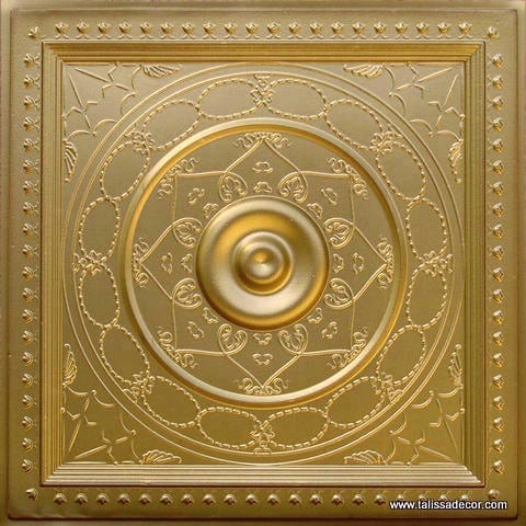 221 Brass Faux Tin Ceiling Tile