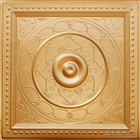 221 Gold Faux Tin Ceiling Tile