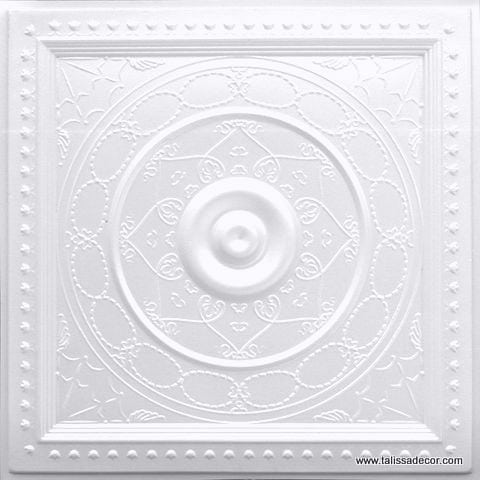 221 White Pearl Faux Tin Ceiling Tile