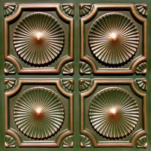 106 Patina Copper  Faux Tin Ceiling Tile