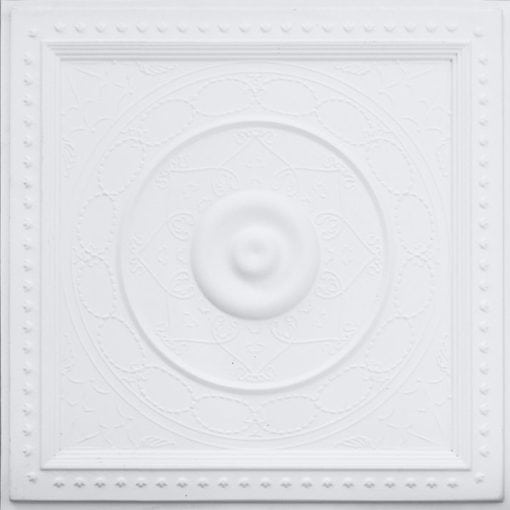 221 White Matte Faux Tin Ceiling Tile