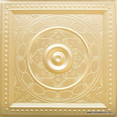 221 Cream Pearl Faux Tin Ceiling Tile