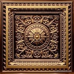 223 Antique Gold Faux Tin Ceiling Tile