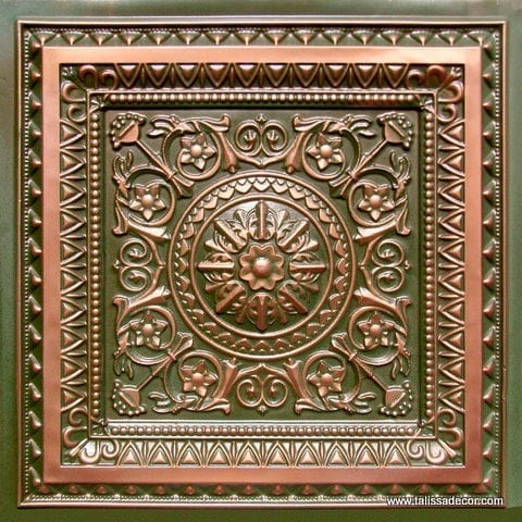 223 Patina Copper Faux Tin Ceiling Tile