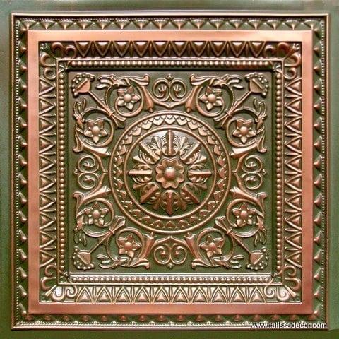 223 Patina Copper Faux Tin Ceiling Tile