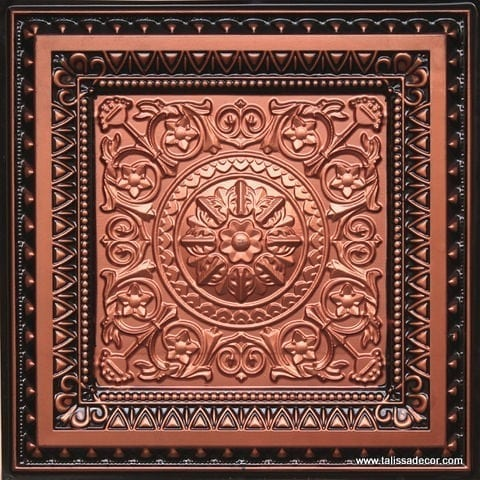 223 Copper-Antique Copper Faux Tin Ceiling Tile
