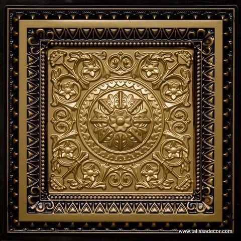 223 Brass-Antique Brass Faux Tin Ceiling Tile