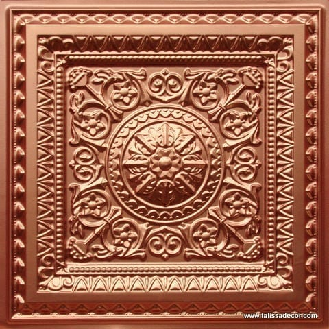 223 Copper Faux Tin Ceiling Tile
