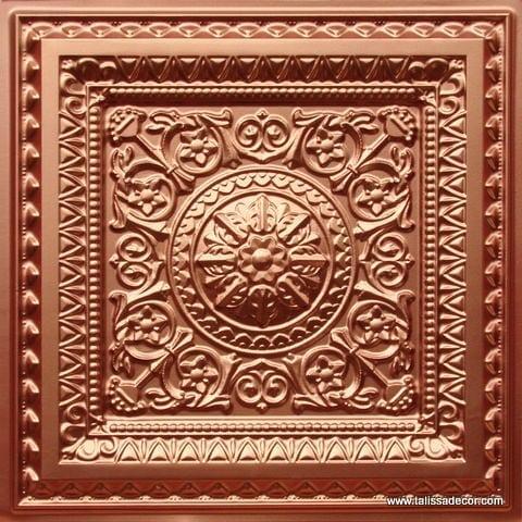 223 Copper Faux Tin Ceiling Tile