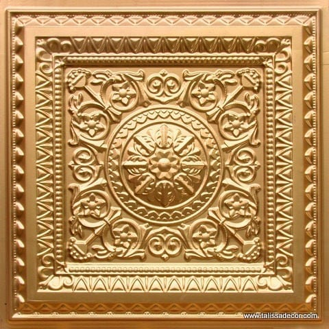 223 Gold Faux Tin Ceiling Tile