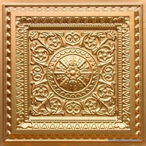 223 Gold Faux Tin Ceiling Tile