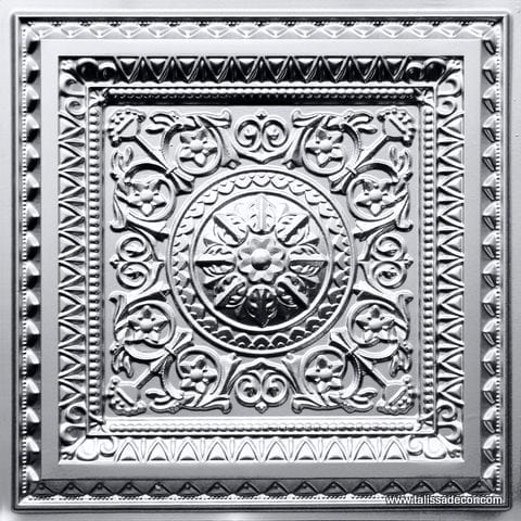 223 Silver Faux Tin Ceiling Tile