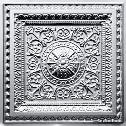 223 Silver Faux Tin Ceiling Tile