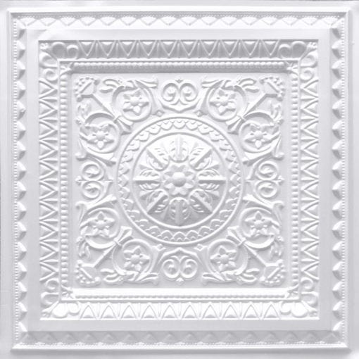 223 White Pearl Faux Tin Ceiling Tile