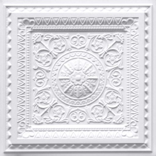223 White Matte Faux Tin Ceiling Tile