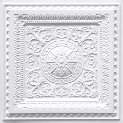 223 White Matte Faux Tin Ceiling Tile
