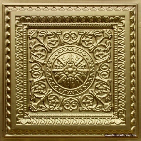 223 Brass Faux Tin Ceiling Tile