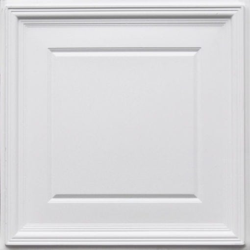 224 White Matte Faux Tin Ceiling Tile