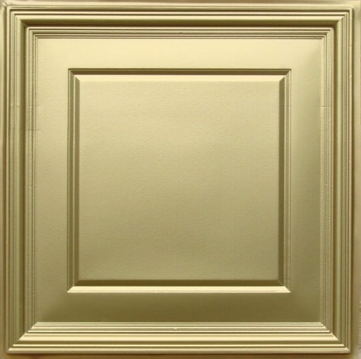 224 Brass Faux Tin Ceiling Tile