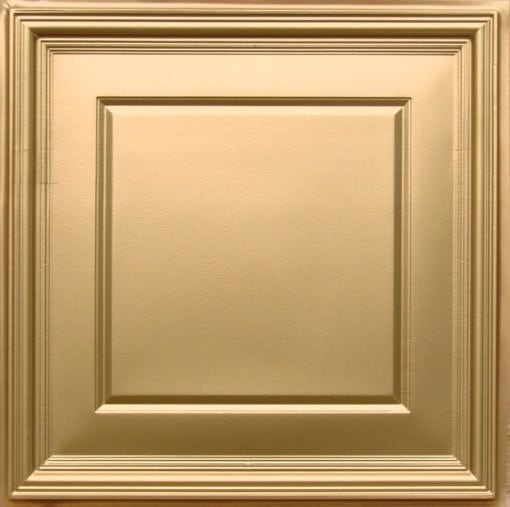 224 Gold Faux Tin Ceiling Tile