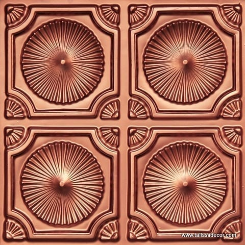 106 Copper Faux Tin Ceiling Tile