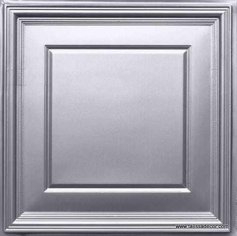 224 Silver Faux Tin Ceiling Tile