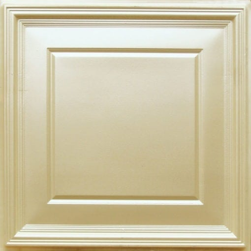 224 Cream Pearl Faux Tin Ceiling Tile