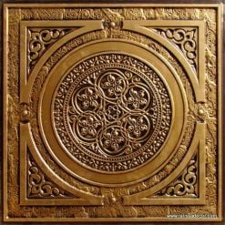 225 Antique Gold Faux Tin Ceiling Tile
