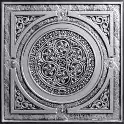 225 Antique Silver Faux Tin Ceiling Tile