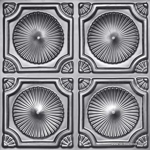 106 Silver Faux Tin Ceiling Tile