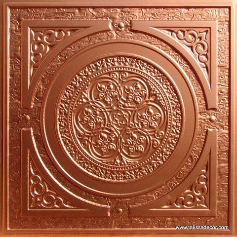 225 Copper Faux Tin Ceiling Tile
