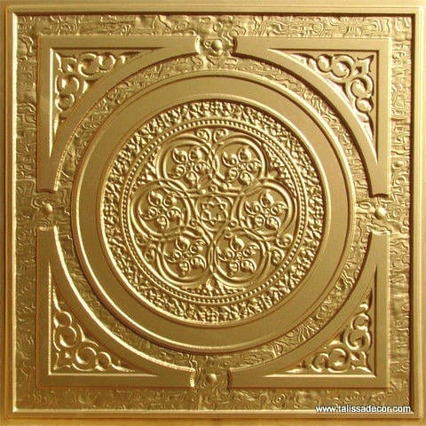 225 Gold Faux Tin Ceiling Tile